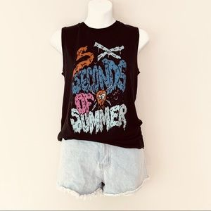 5 Seconds of Summer Graphic Sleeveless Band Tee